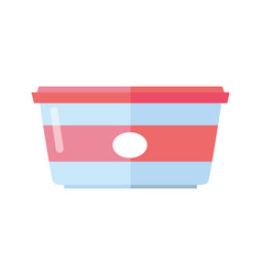 Food container in flat design vector