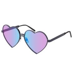 glasses in heart shape vector image