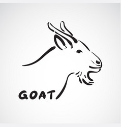 Goat head on white background farm animals vector