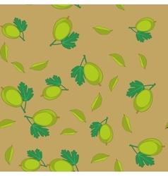 Gooseberry cartoon seamless texture 655 vector