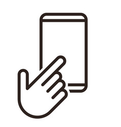 Hand pointer and iphone icon vector