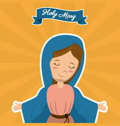 holy mary christian mother saint image vector image