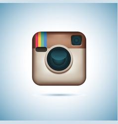 instagram logotype camera on pc screen instagram vector image