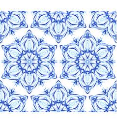 kaleidoscope light blue flower background vector image