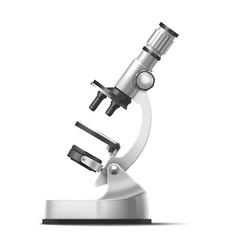 laboratory microscope realistic 3d model vector image