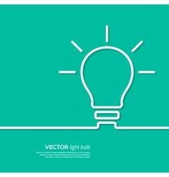 Light bulb idea concept template vector