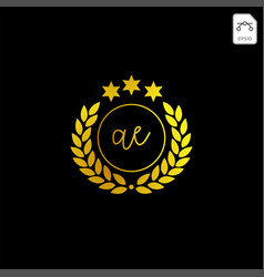 Luxury ac initial logo or symbol business company vector