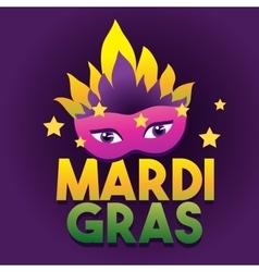 Mardi gras logo poster carnival type treatment vector