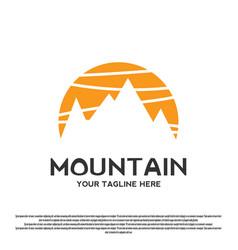 Modern mountain logo design vector