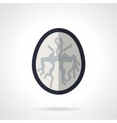MRI of brain flat icon vector