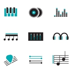 Music logos set vector image vector image