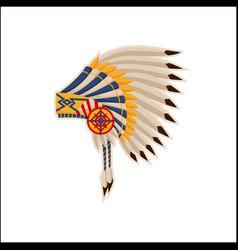 Native american headdress pattern icon vector