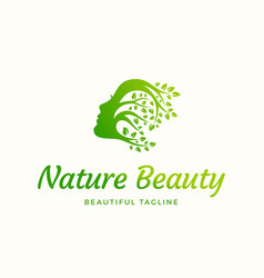 Nature beauty abstract sign emblem or logo vector