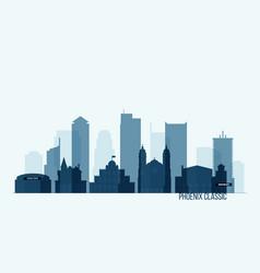 phoenix skyline with buildings vector image