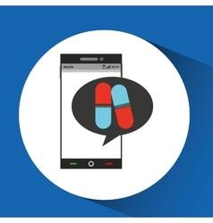 phone online health pharmacy vector image