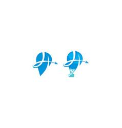 pin map travel logo icon vector image