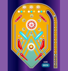 pinball machine isolated vector image