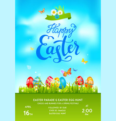 poster holiday easter vector image