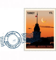postmark from Istanbul vector image