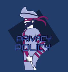 Privacy police design vector