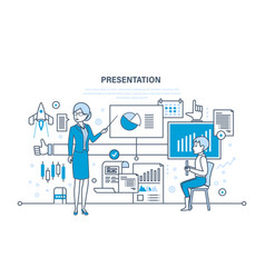 Professional training about marketing e-commerce vector