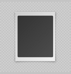 realistic blank photo card vector image