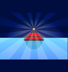 Rounded red buoy banner color vector