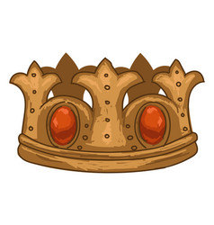royal crown with gems and precious stones vector image