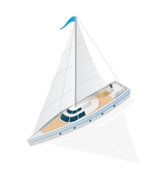 Sailing Ship Yacht Isometric View vector image