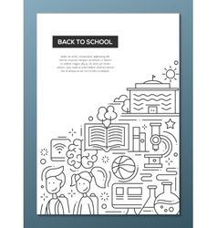 School education line design composition vector