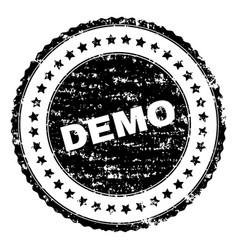Scratched textured demo stamp seal vector