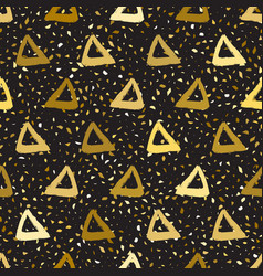 Seamless pattern triangles vector