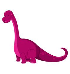 Single picture brontosaurus in pink vector