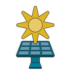 solar panel vector image