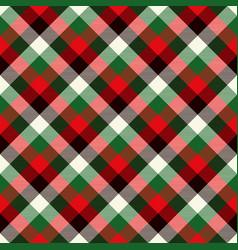 tartan seamless pattern background red green vector image
