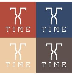 Time monogram vector
