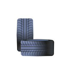 tire car wheels made rubber material tyres vector image