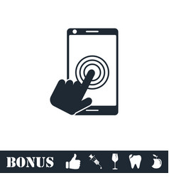 touch screen icon flat vector image