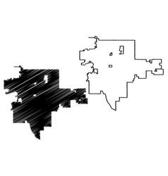 tulsa city map vector image