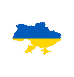 ukraine flag and map vector image