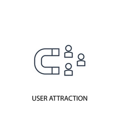 User attraction concept line icon simple element vector