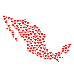 Valentine mosaic map of mexico vector