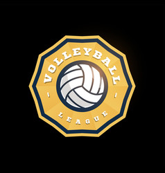volleyball abstract shape logo modern vector image
