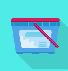 wash plastic box icon flat style vector image