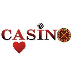 Casino Logo vector image vector image