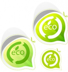 eco sticker set vector image vector image