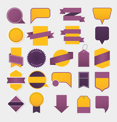 empty ribbons tags and labels advertising vector image