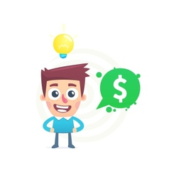Idea for business vector image vector image