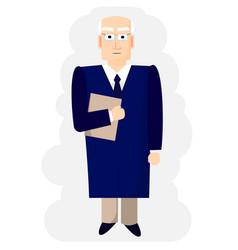 judge delivers a verdict in court vector image