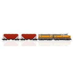 railway train 06 vector image vector image